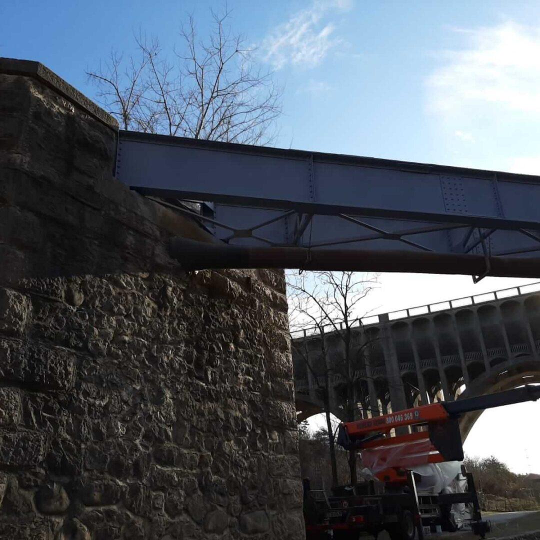 Sabbiatura e verniciatura ponte