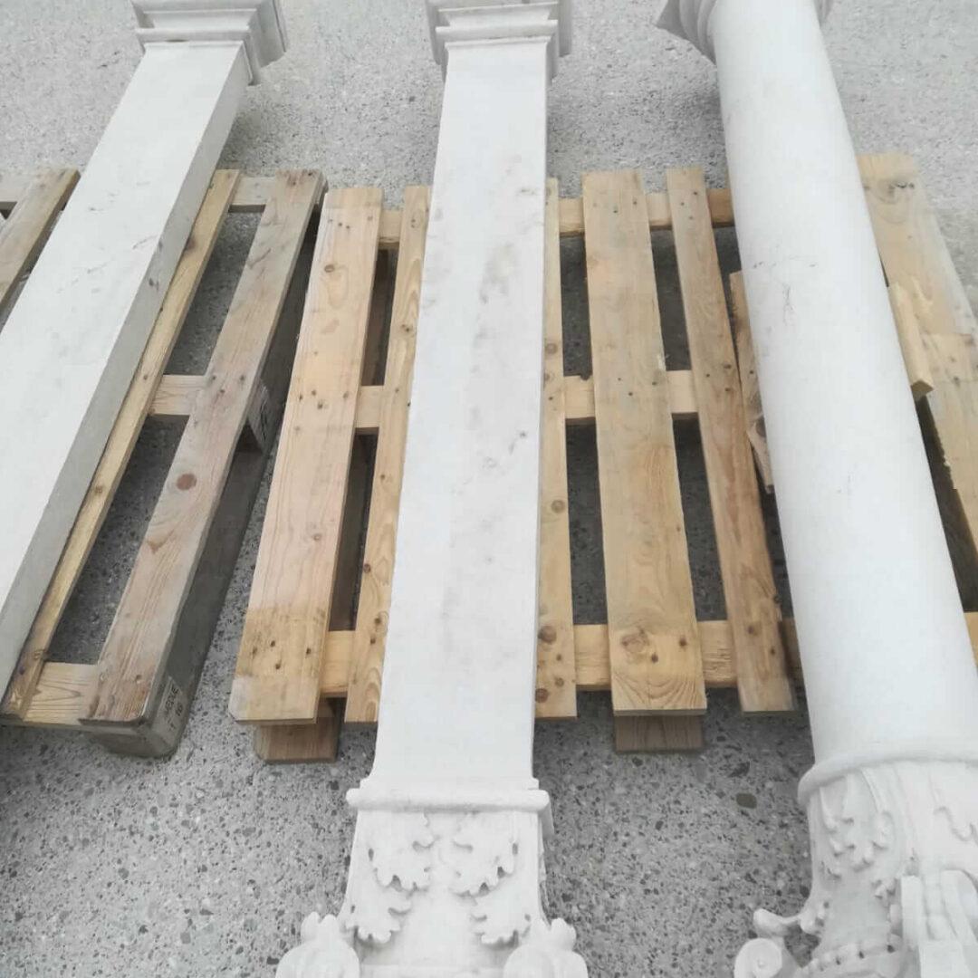 Sabbiature colonne in marmo