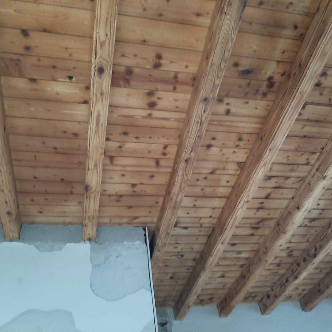 Soffitti in legno sabbiatura
